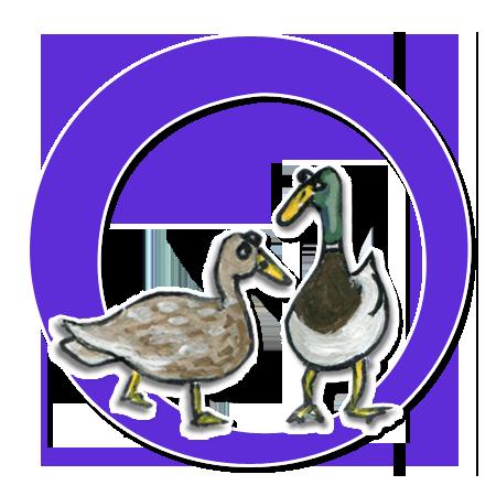 Die Enten Peppina und Peppino