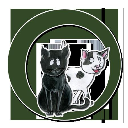 Die Katzen Oskar und Minka