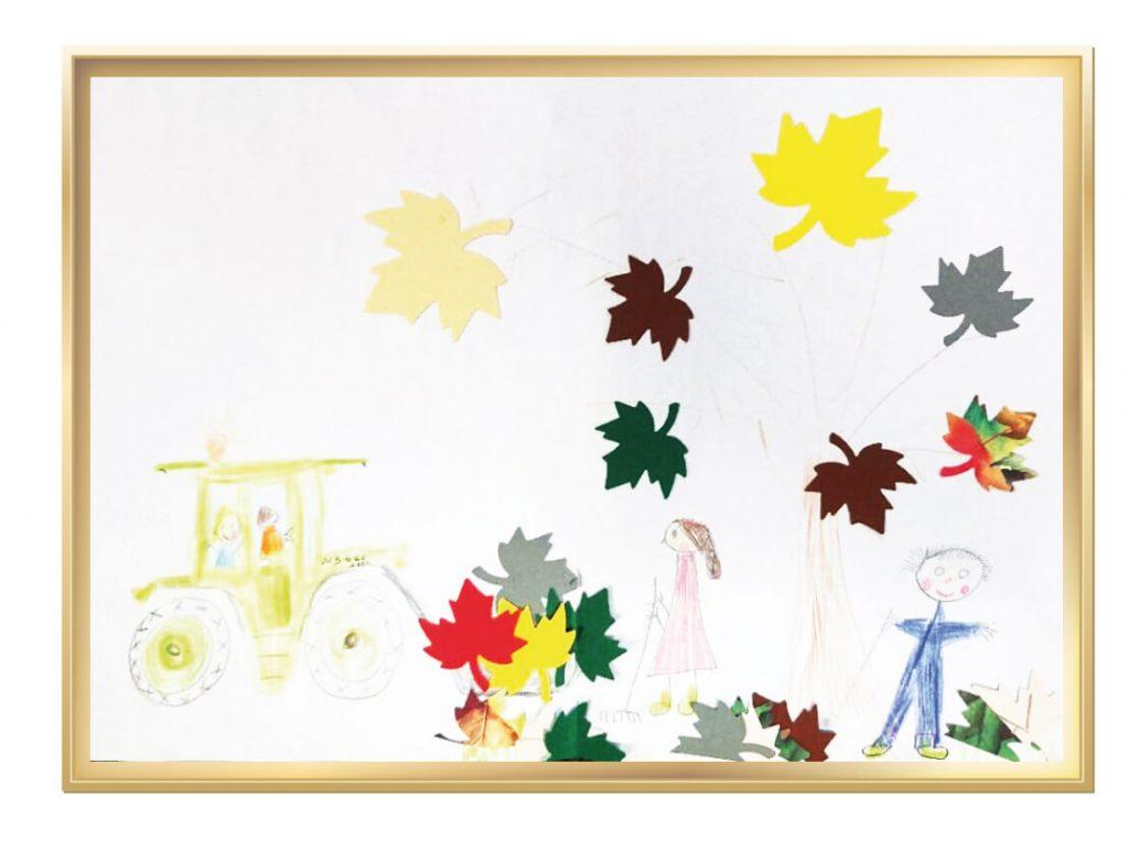 Herbst auf dem Bauernhof von Luisa, 5 Jahre aus Leuchtenberg