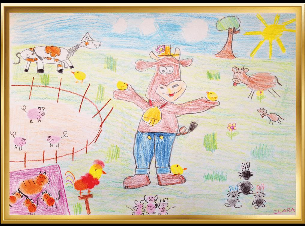 Tierkinder auf dem Bauernhof von Clara, 5 Jahre aus Geestland