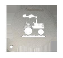 Milchschaumschablone Traktor