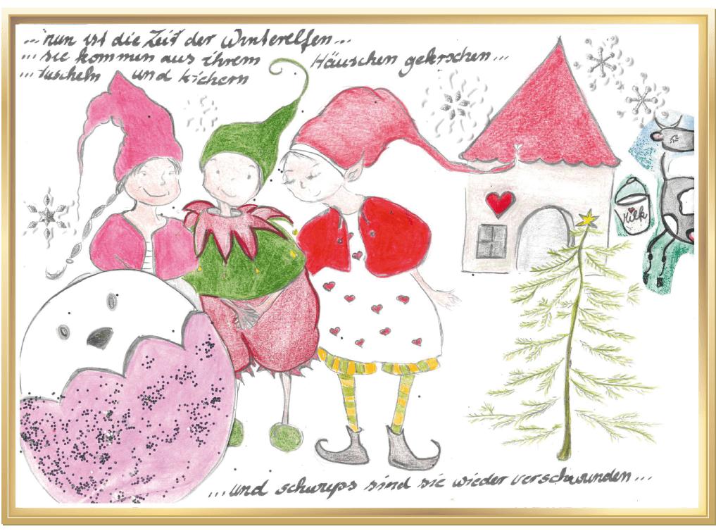 Winter auf dem Bauernhof von Phyllis, 10 Jahre aus Neschwitz