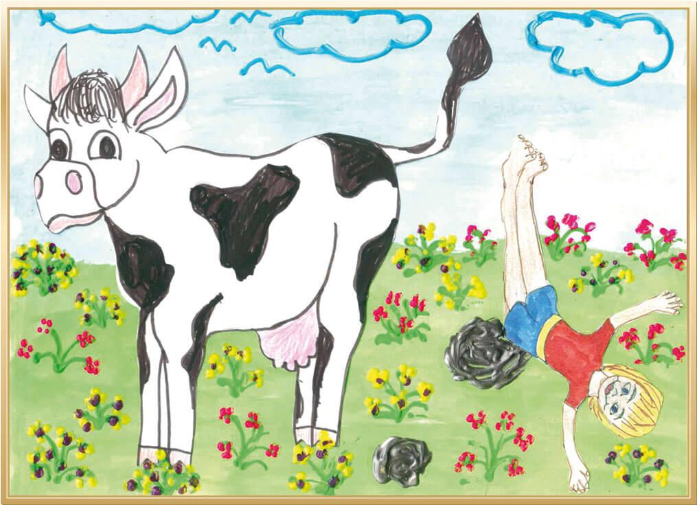 Mein lustigstes Erlebnis auf dem Bauernhof von Anna, 8 Jahre aus Dorsten