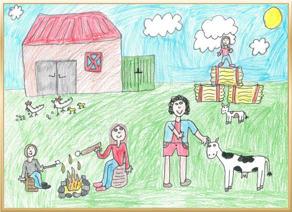 Meine Familienzeit auf dem Bauernhof von Ida, 8 Jahre aus Hildesheim